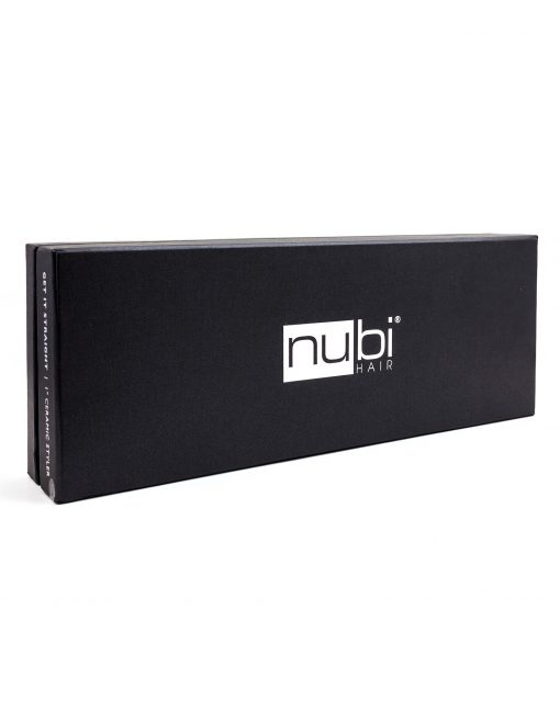 nubi hair get it straight ceramic straightener black box
